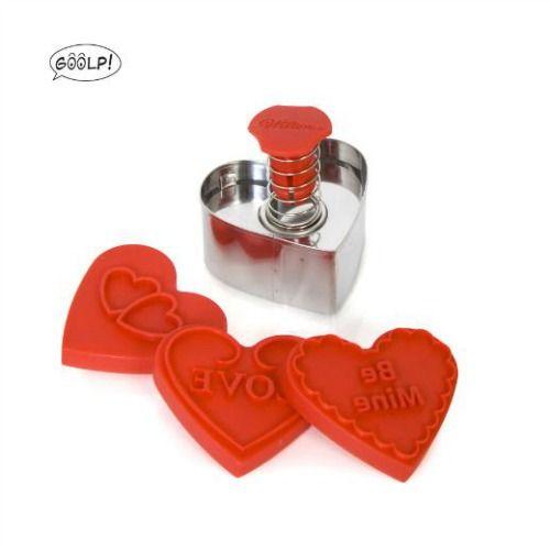Stampi a timbro per biscotti a forma di cuore