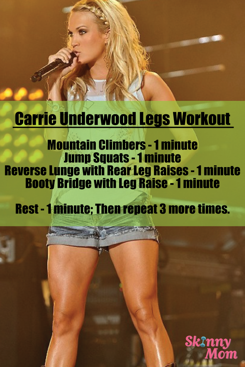 carried away with carrie underwood's leg routine | skinny mom