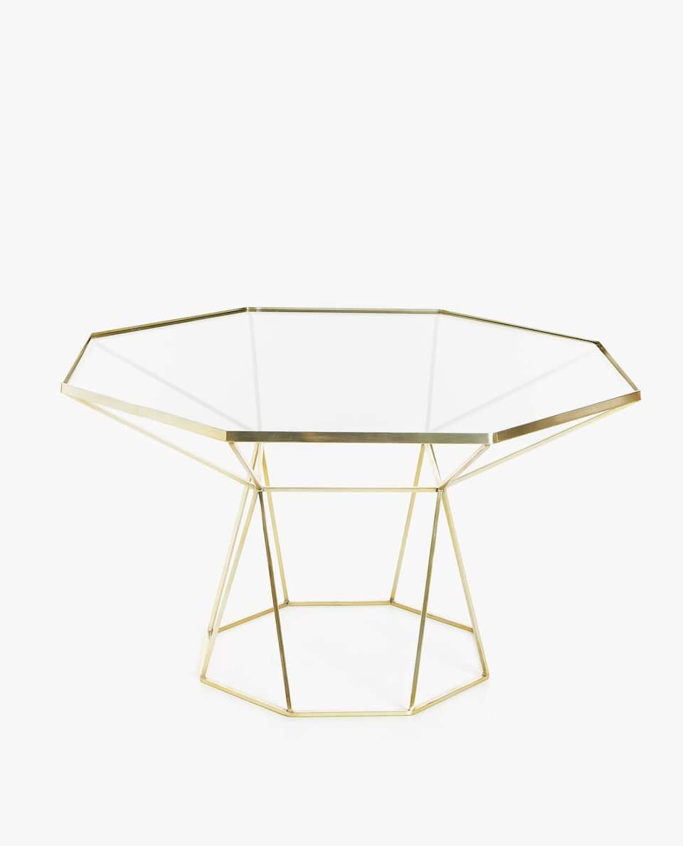 Couchtisch Zara Home Image 1 Of The Product Large Golden Octagonal Table Geneva