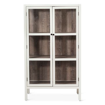 Vista Library Cabinet With Glass Threshold For The Home