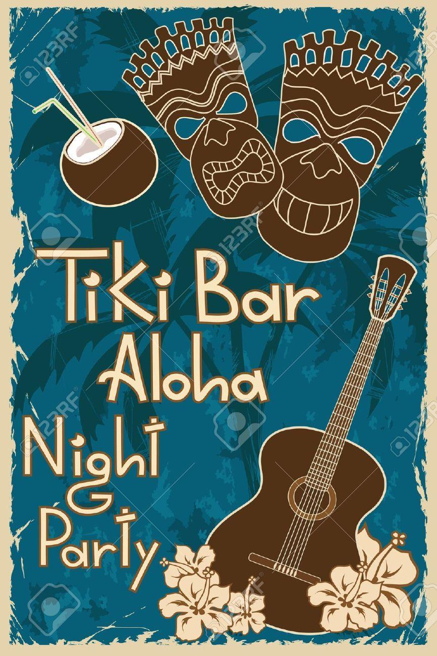 19970349 vintage hawaiian poster invitation to tiki bar night 19970349 vintage hawaiian poster invitation to tiki bar stopboris Gallery