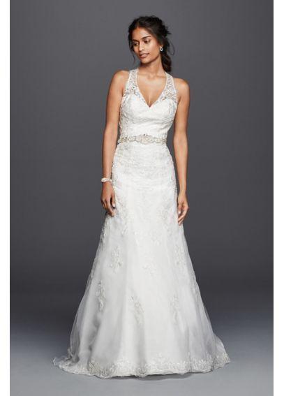 Nice Jewel Lace Wedding Dress with Halter Neckline BEAUTIFUL back design
