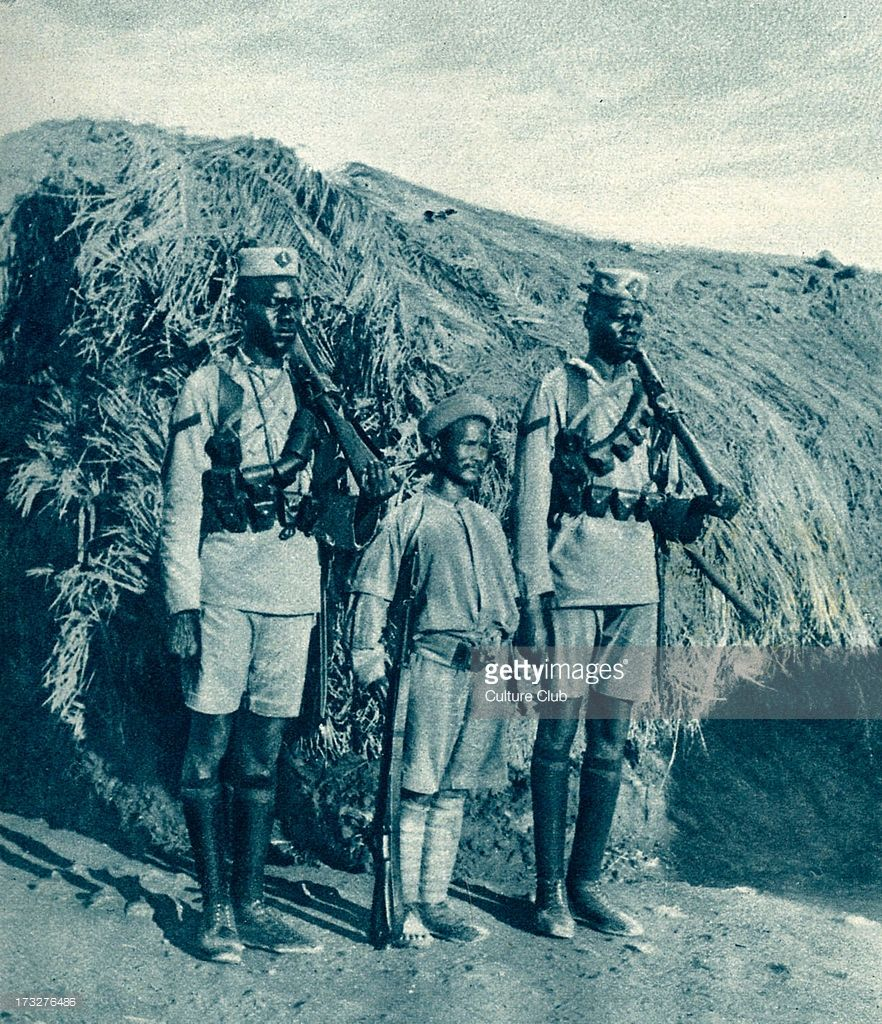 Soldiers From British East Africa During World War 1. 1916