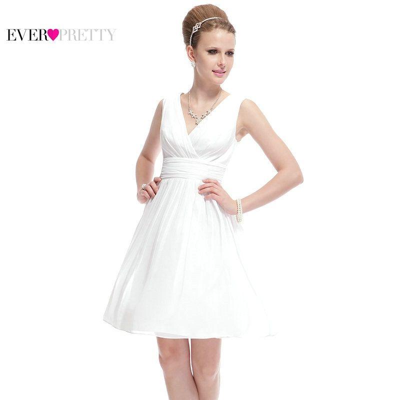 Clearance Sale  Ever Pretty Women Elegant Sexy Bridesmaid Dresses V Neck  Chiffon Casual Solid b0552006376b