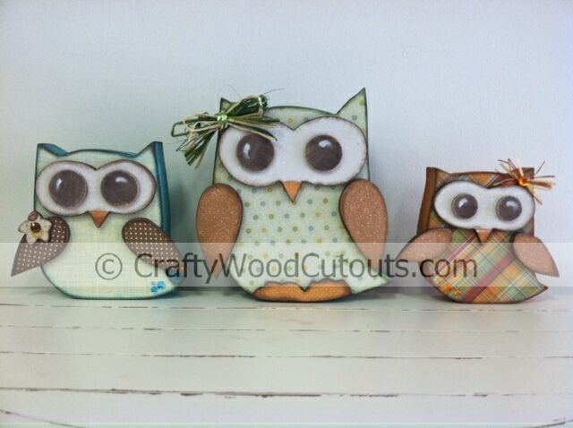 New Fall And Owls Wood Craft Projects Wood Cutouts Utah