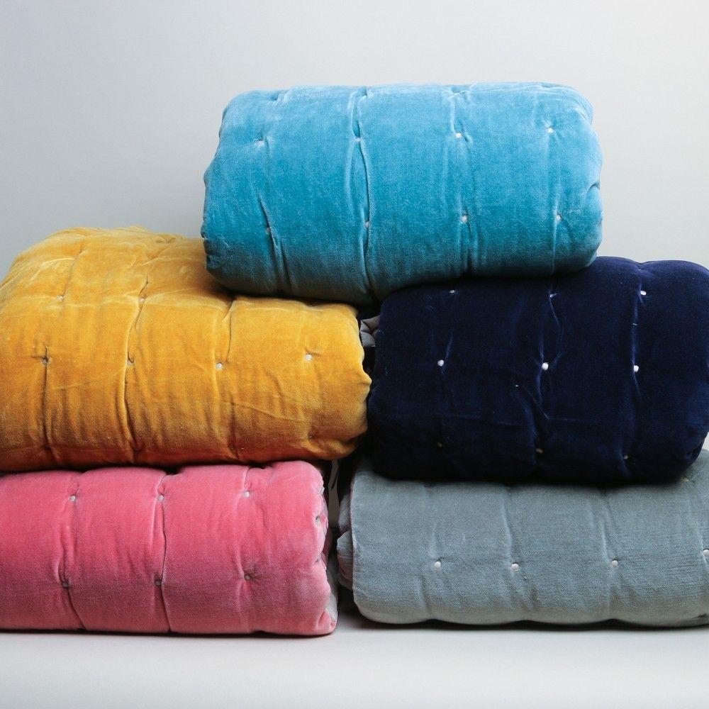 Vivaraise Elise Cotton Velvet Quilt Blush Printer