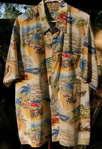 2f41ea87d XXL Reyn Spooner Vintage Monte Carlo Grand Prix Race Car Hawaiian Shirt  Size 2XL   eBay
