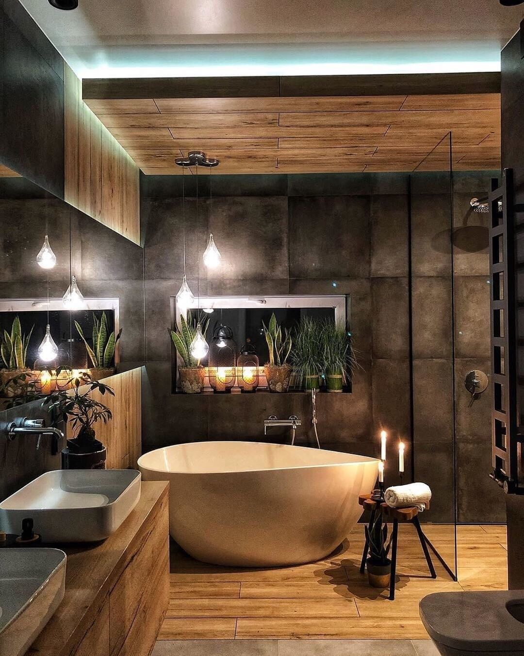 Who Would Like To Have A Private Spa At Home Looking For Bathroom Bathr Bathroom Interior Design Industrial Bathroom Design Bathroom Interior