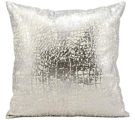 "Kathy Ireland Memories 18"" Square Silver Pillow | 55DowningStreet.com"