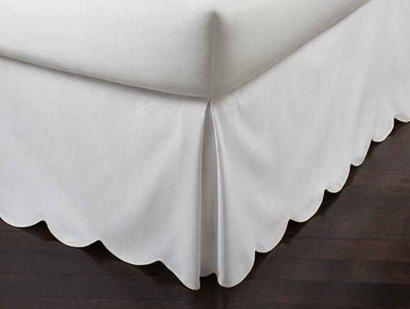 Pique Scalloped Bedskirt Bedskirt Diy Bed Skirt Bedding Inspiration Dust ruffles bed skirts