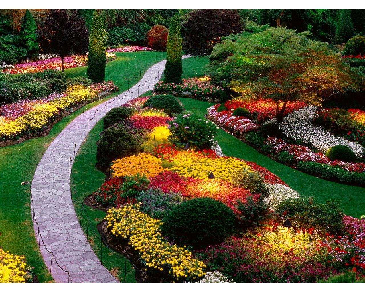 Beautiful flower garden path - Flower Beautiful Flower Garden