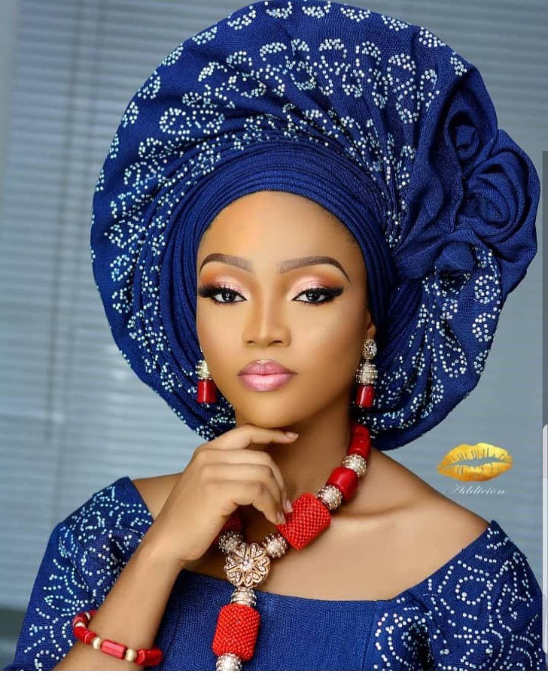 What name do we call this headgear style? 😍🌟 #AsoEbiBella ...