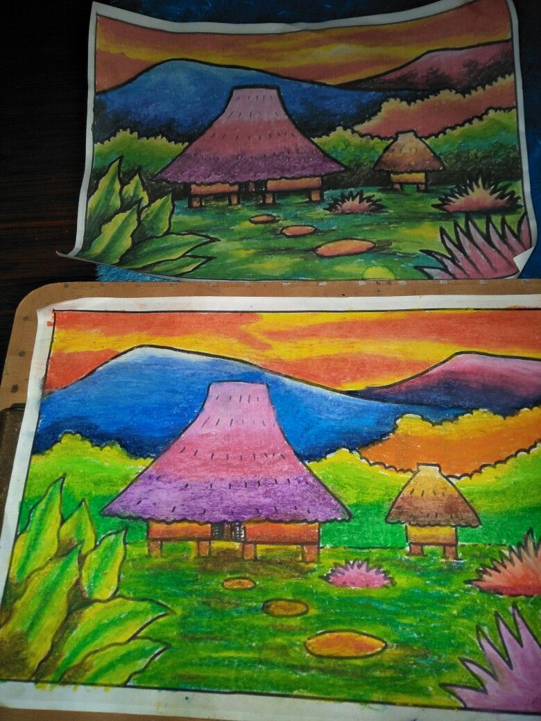 Belajar Mewarnai Meniru Contoh Hasil Karya Aisyah Painting Dan Art