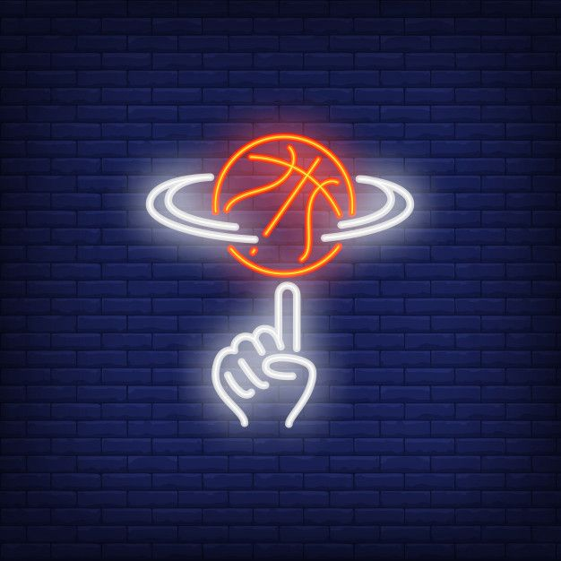 Download Basketball Spinning On Finger Neon Sign for free
