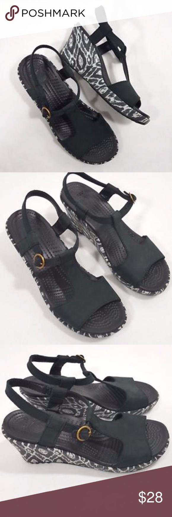 e1d436894e53 I just added this listing on Poshmark  CROCS Tribal Aztec Print Women s  Wedge Sandals.