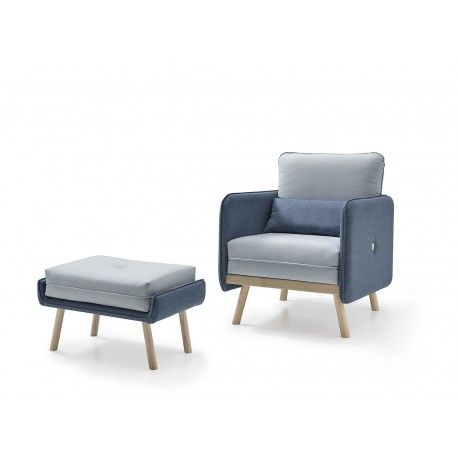 BOTTOMButaca de diseño estilo nordico , Sillón de Diseño Moderno,1 - butacas modernas