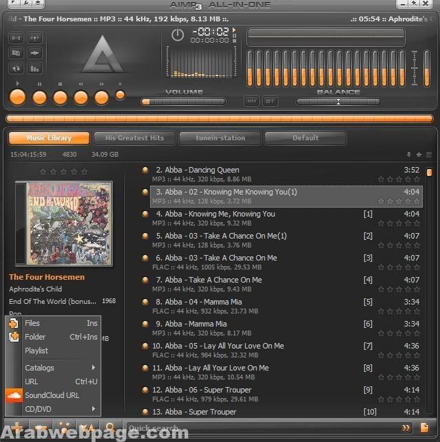تحميل برنامج مشغل موسيقى للكمبيوتر مجانا    | الصفحة العربية | Music