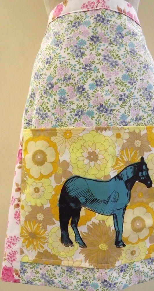 Screen Printed Horse Apron £35.00