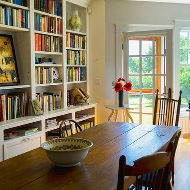 Houzz Library Dining Room