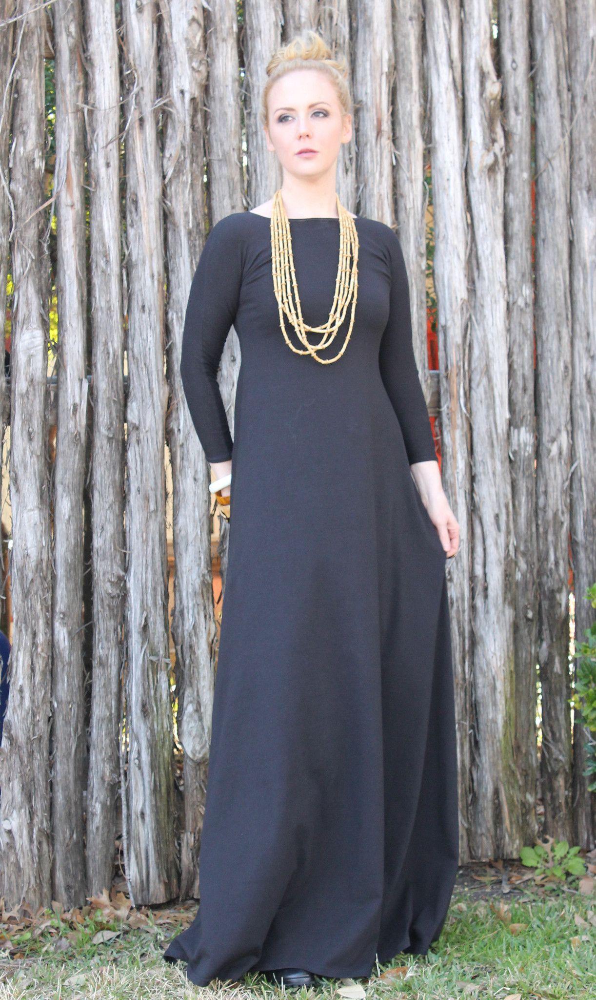 Norah black sleeve maxi dress dimiloc lookbook pinterest