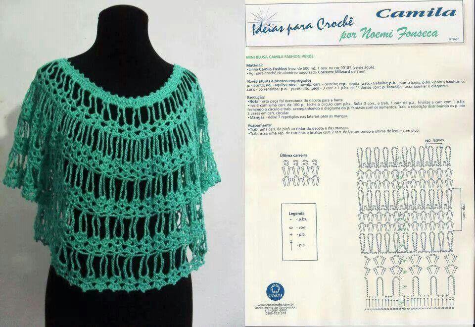 Blusa sencilla y fresca | Crochet | Pinterest | Blusas sencillas ...