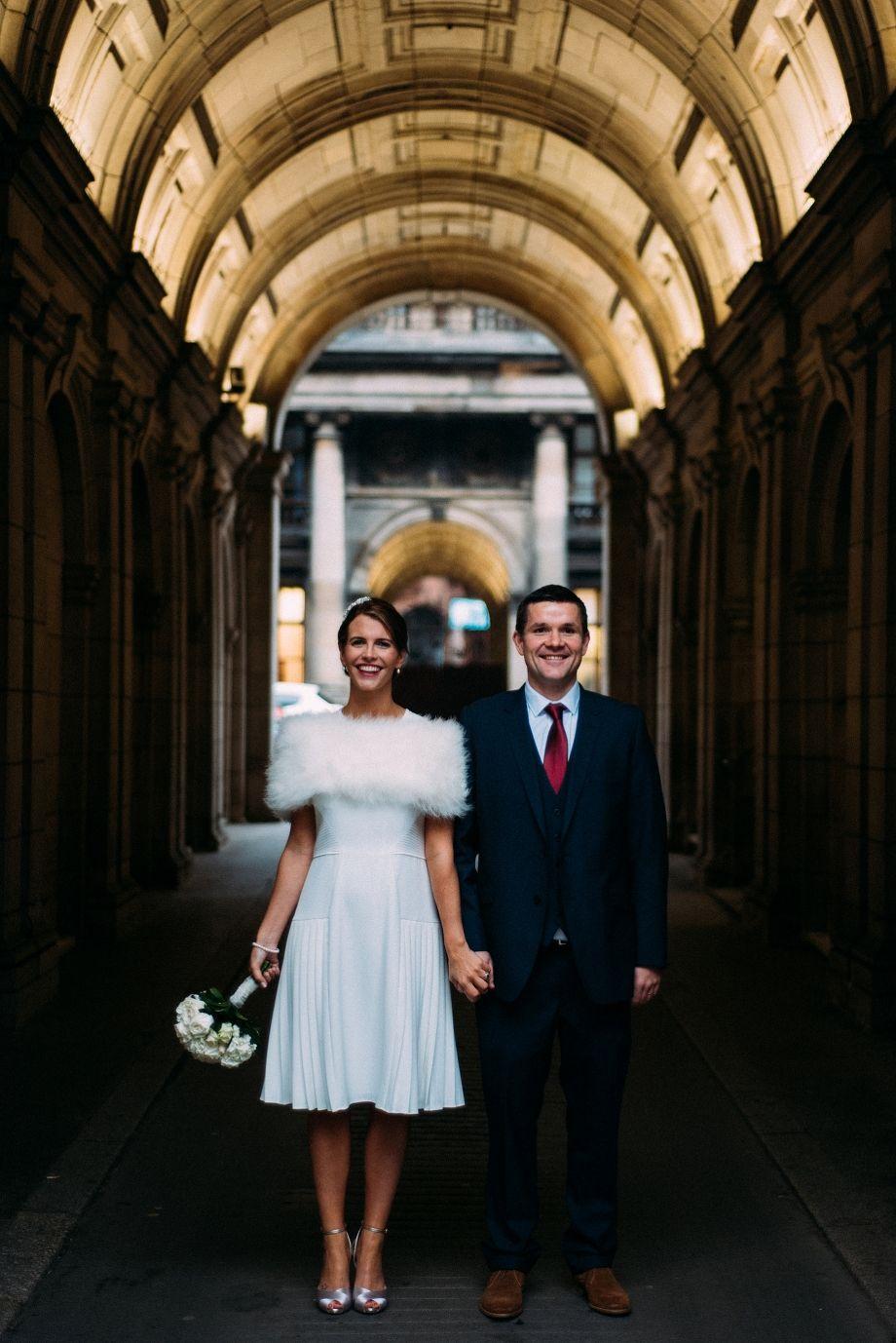 Quirky Scotland Elopement Glasgow Registry Office Wedding Photographer
