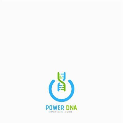 Power DNA Logo Template | Logo templates, Logos and Template