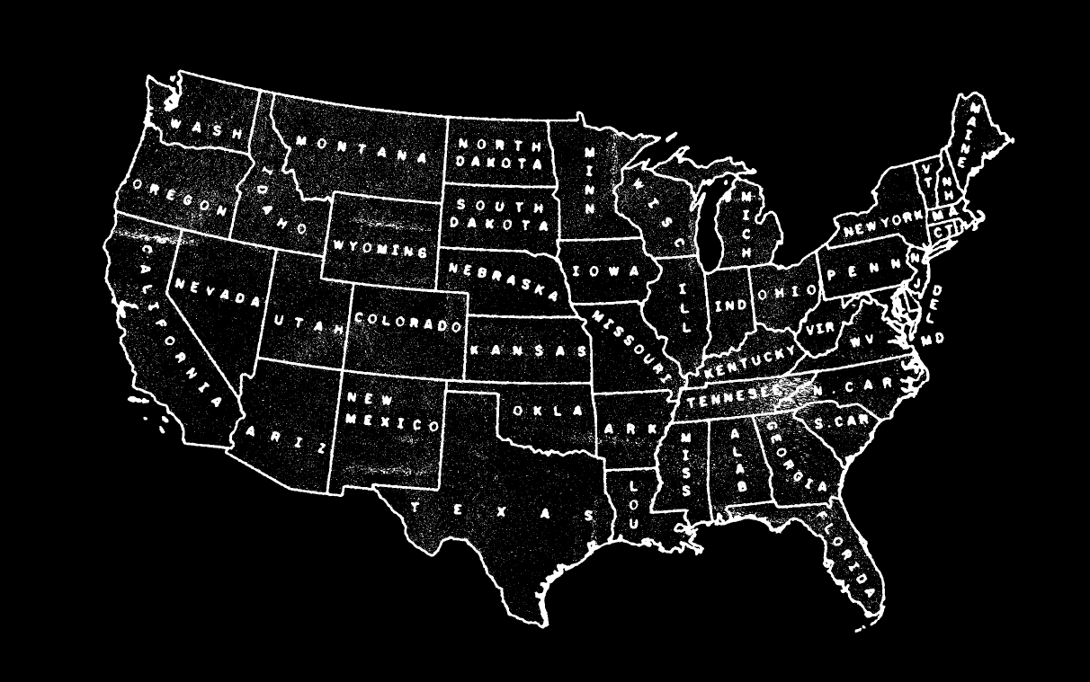 The States Americana Pinterest Cartography Typography - Tumblr us map