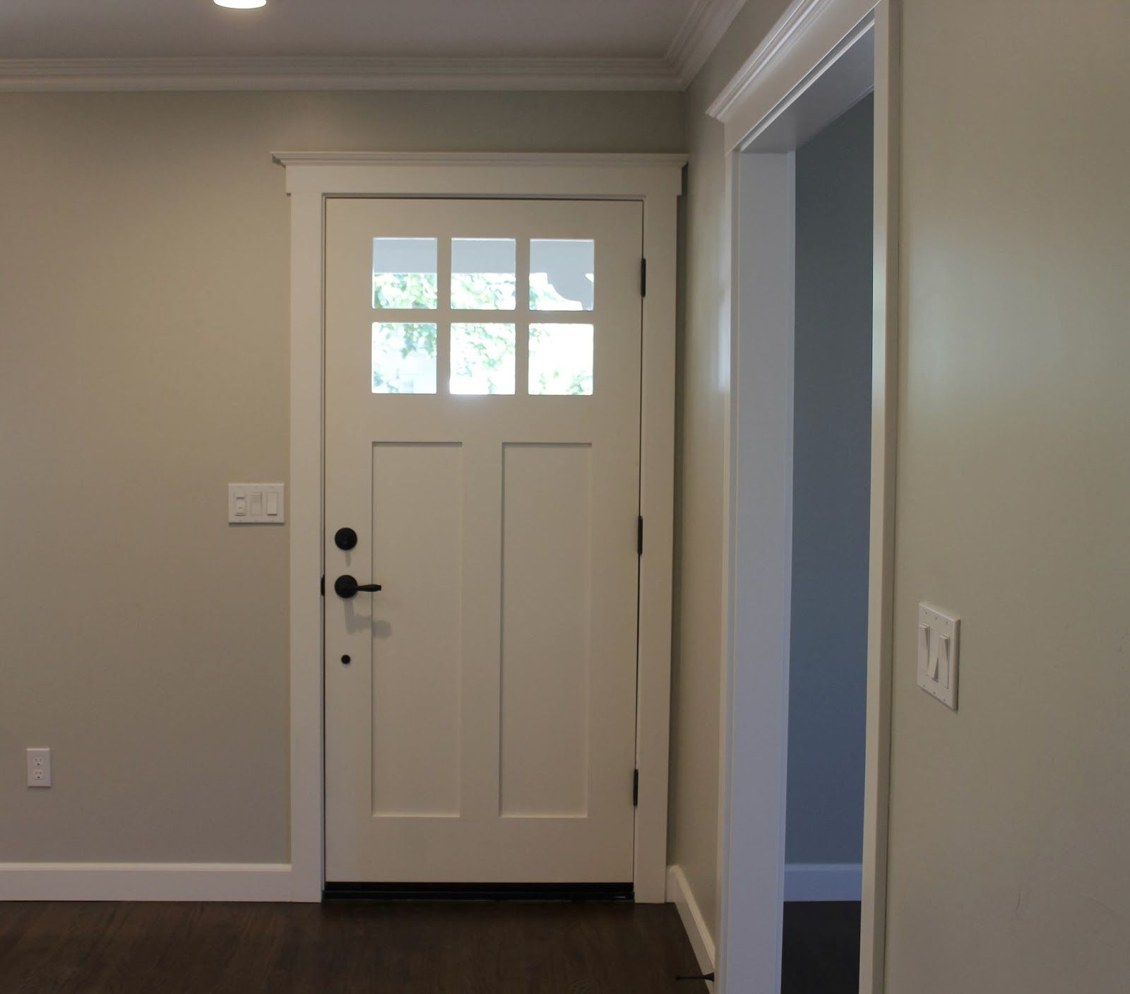 Nice White Front Door Trim With Half 6 Lite Glass White Entrance