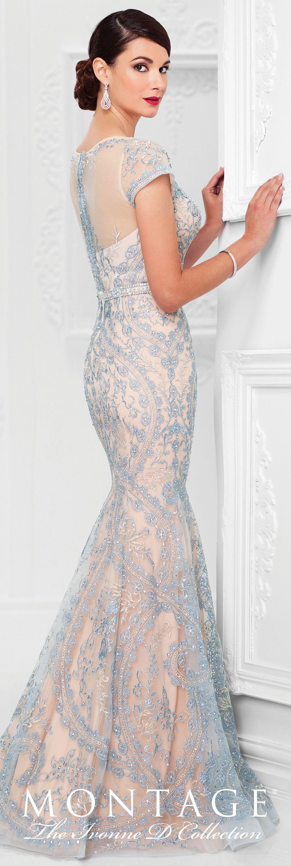 Tulle and Allover Lace Trumpet Gown - Ivonne D 117D70 en 2018 | Moda ...