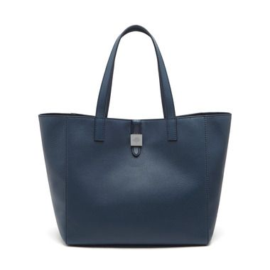 Mulberry - Tessie Tote in Regal Blue Soft Small Grain