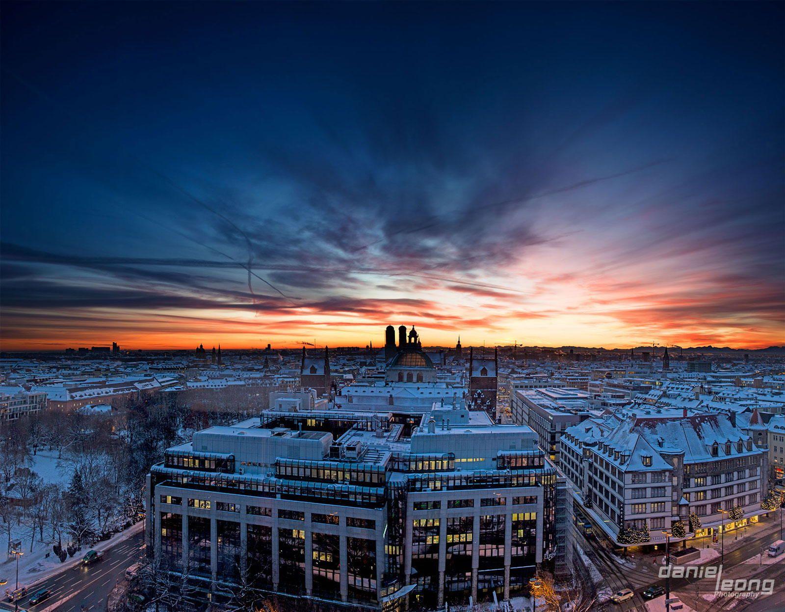 Sunrise in Munich by Daniel Leong on 500px