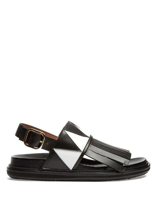 e1ec6ddd237b MARNI Fringed leather sandal.  marni  shoes  sandals