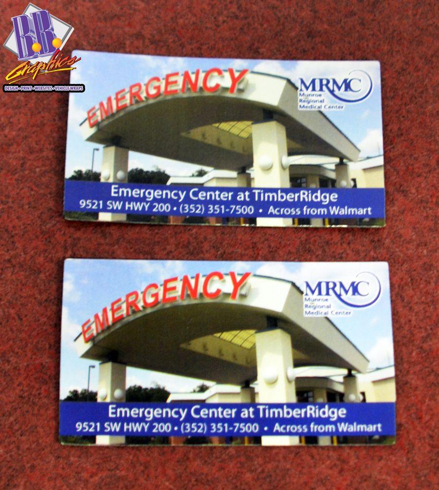 Timber Ridge Emergency Department Magnets | BB Graphics | bbgraphics.com | #bbgraphics