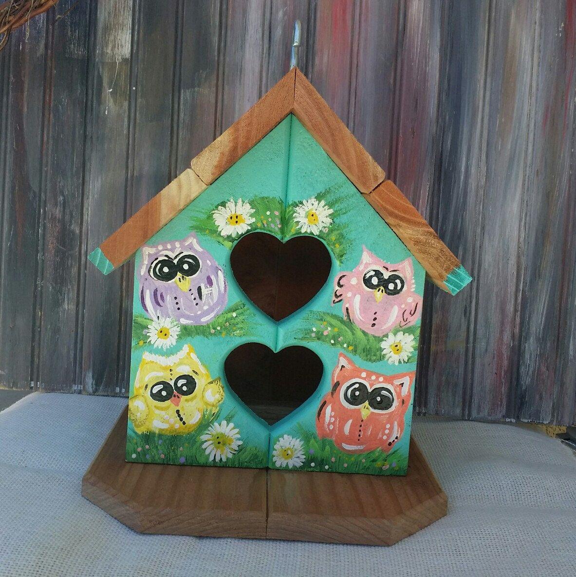 Owl Decor-Owl Birdhouse~Outdoor Owl Yard Art~Unique Garden Decor ...