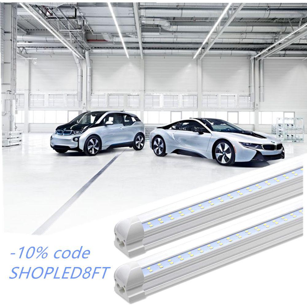 8ft Led Shop Light In 2020 Shop Light Fixtures Led Shop Lights