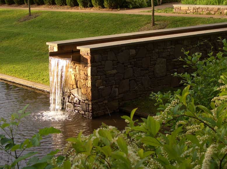 The dell at the university of virginia sustainable for Design of water harvesting pond