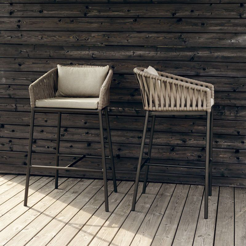 chaise de bar / contemporaine / avec accoudoirs / en aluminium, Möbel