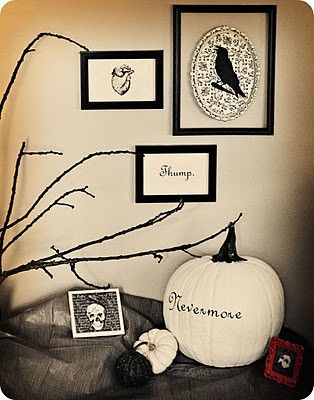 awesome Edgar Allan Poe inspired decorations for Halloween Decor