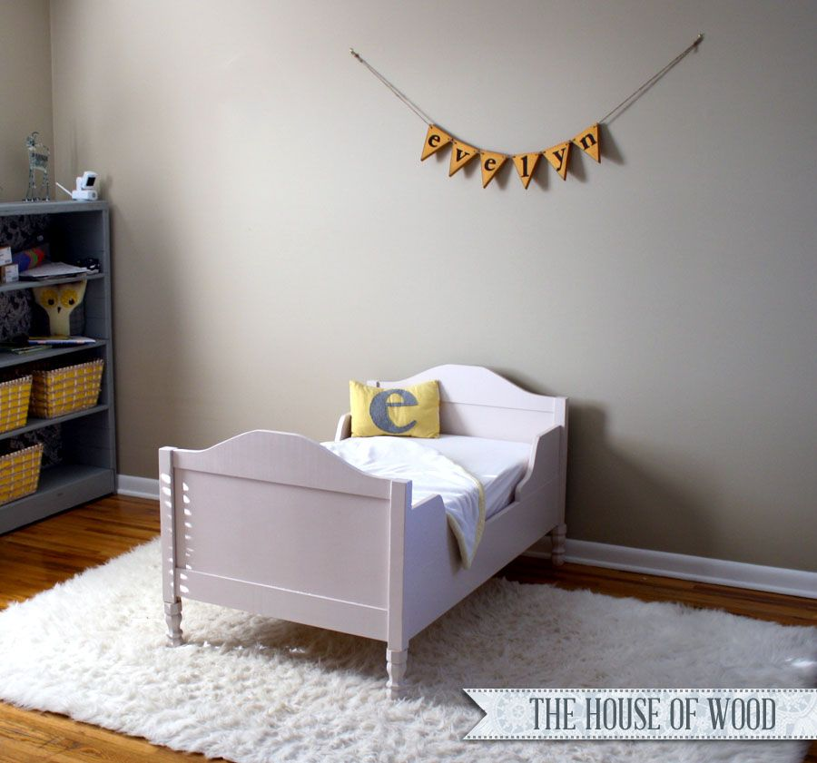 Build A Restoration Hardware Inspired DIY Toddler Bed With This Tutorial From Jen Woodhouse The House Of Wood And Step By Free Plans Ana White