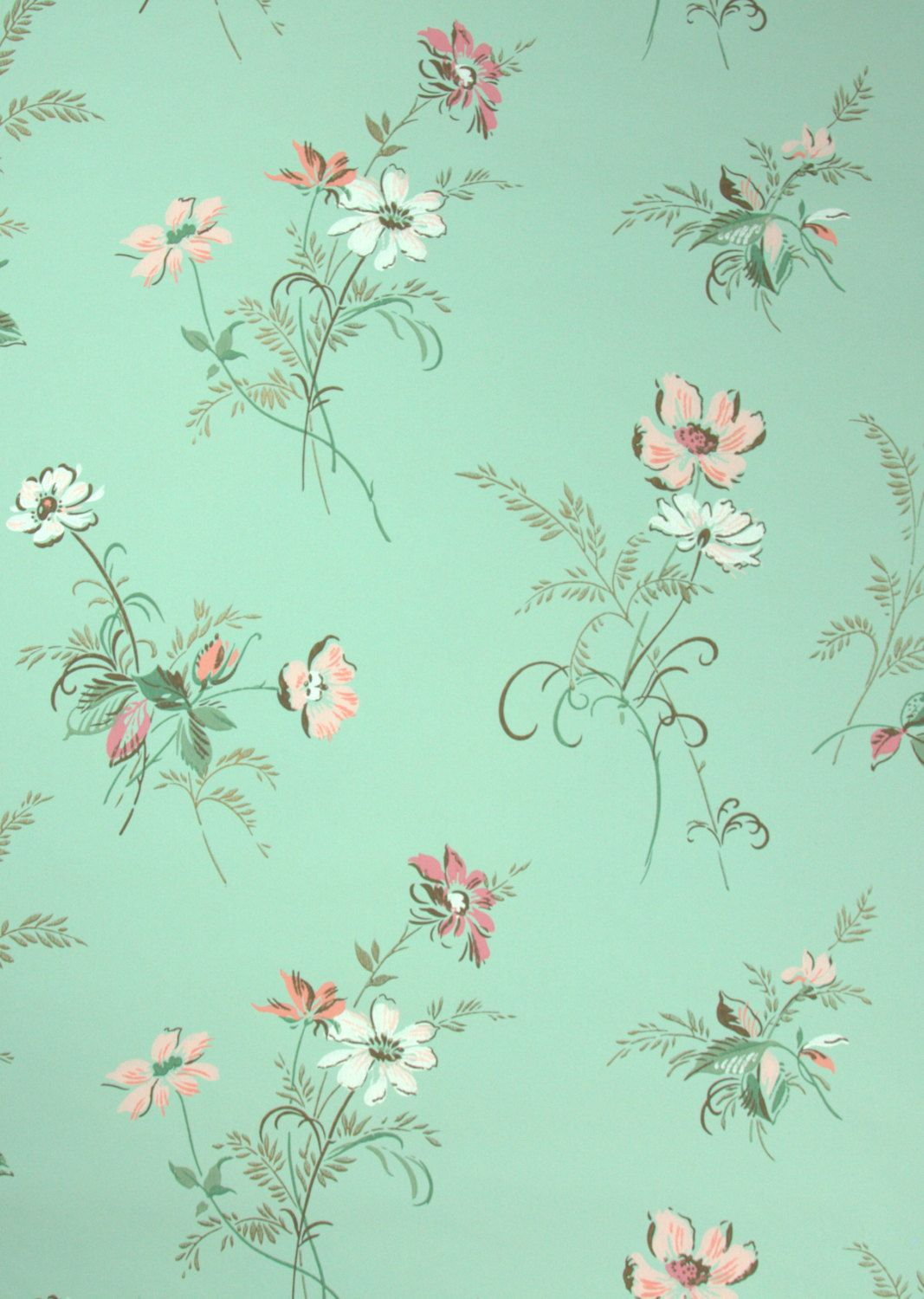 Pastel Mint Green Background Google Search Green Floral