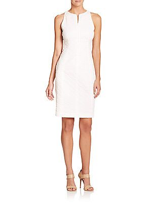 Armani Collezioni Stretch Cotton Shift Dress