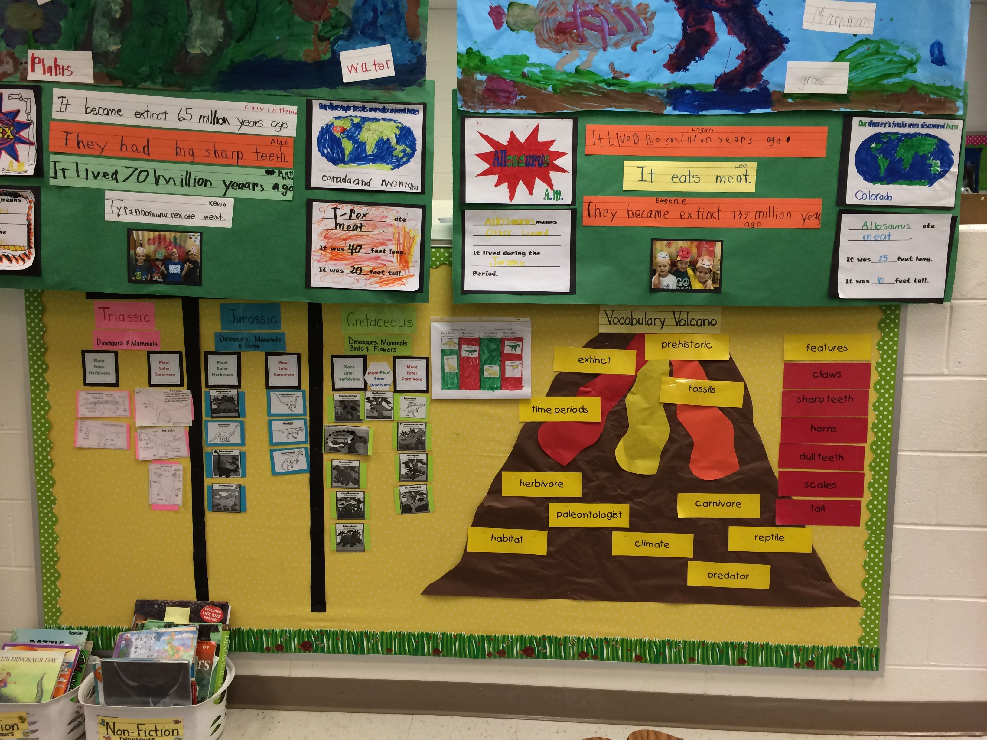Bulletin Board For Time Periods And The Vocabulary Volcano