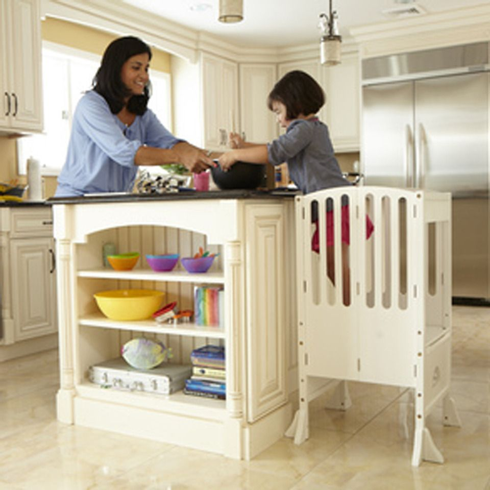 Guidecraft Wooden Contemporary Kitchen Helper in White - Beyond the ...