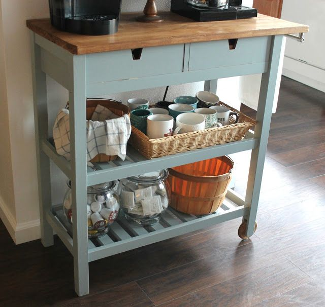 DIY Coffee Bar Cart Perfect For A Small Space And For
