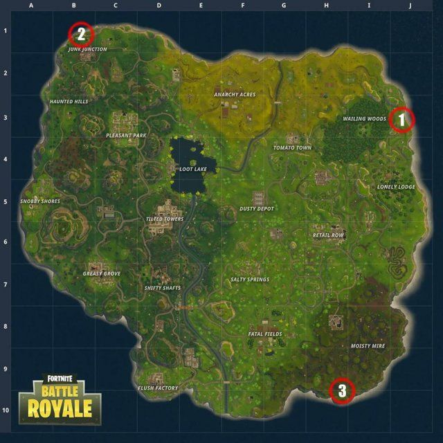 Mapa De Gnomos Fortnite.Fortnite Battle Royale Llama Fox And A Crab Location