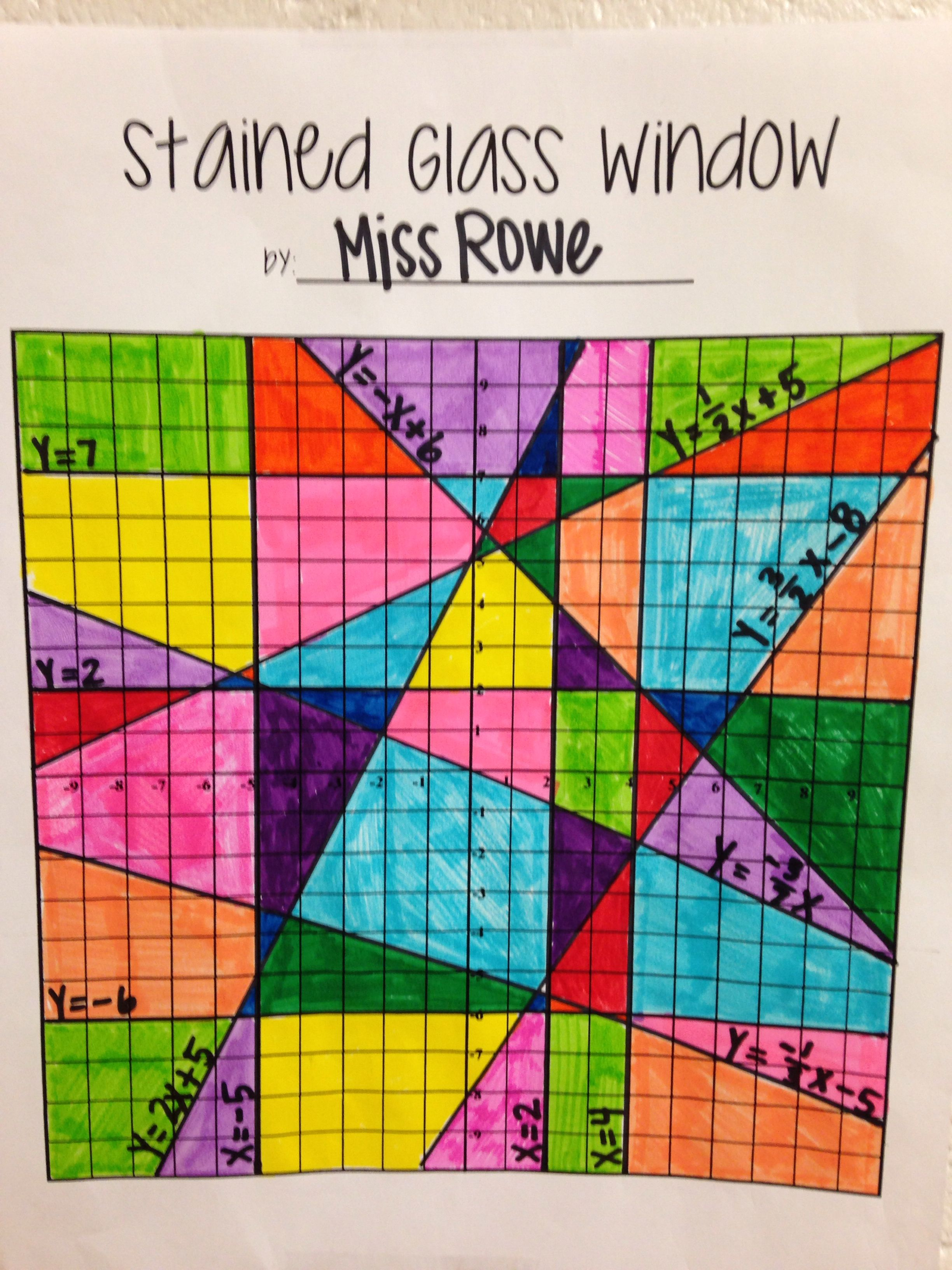 Stained Glass Window Linear Equations Project | Math | Pinterest ...