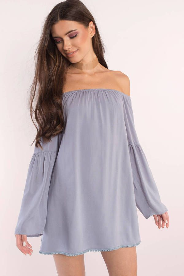 9083b4223bb7 The best damn thing to happen to you is the Cindy Off Shoulder Shift Dress.  A cute off shoulder shift dress to ever graze your body with its flowy sil  ...