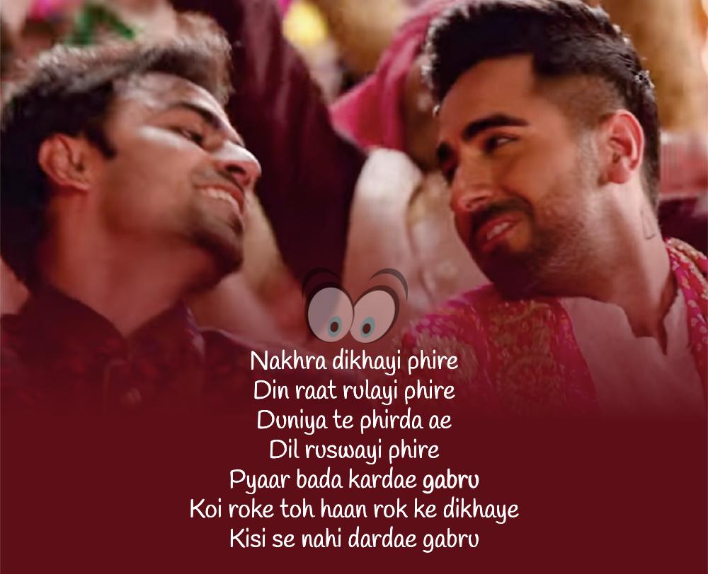 Gabru Lyrics Shubh Mangal Zyada Saavdhan In 2020 Love Songs Lyrics New Popular Songs Songs