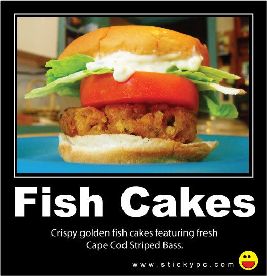 Striped bass fish cakes